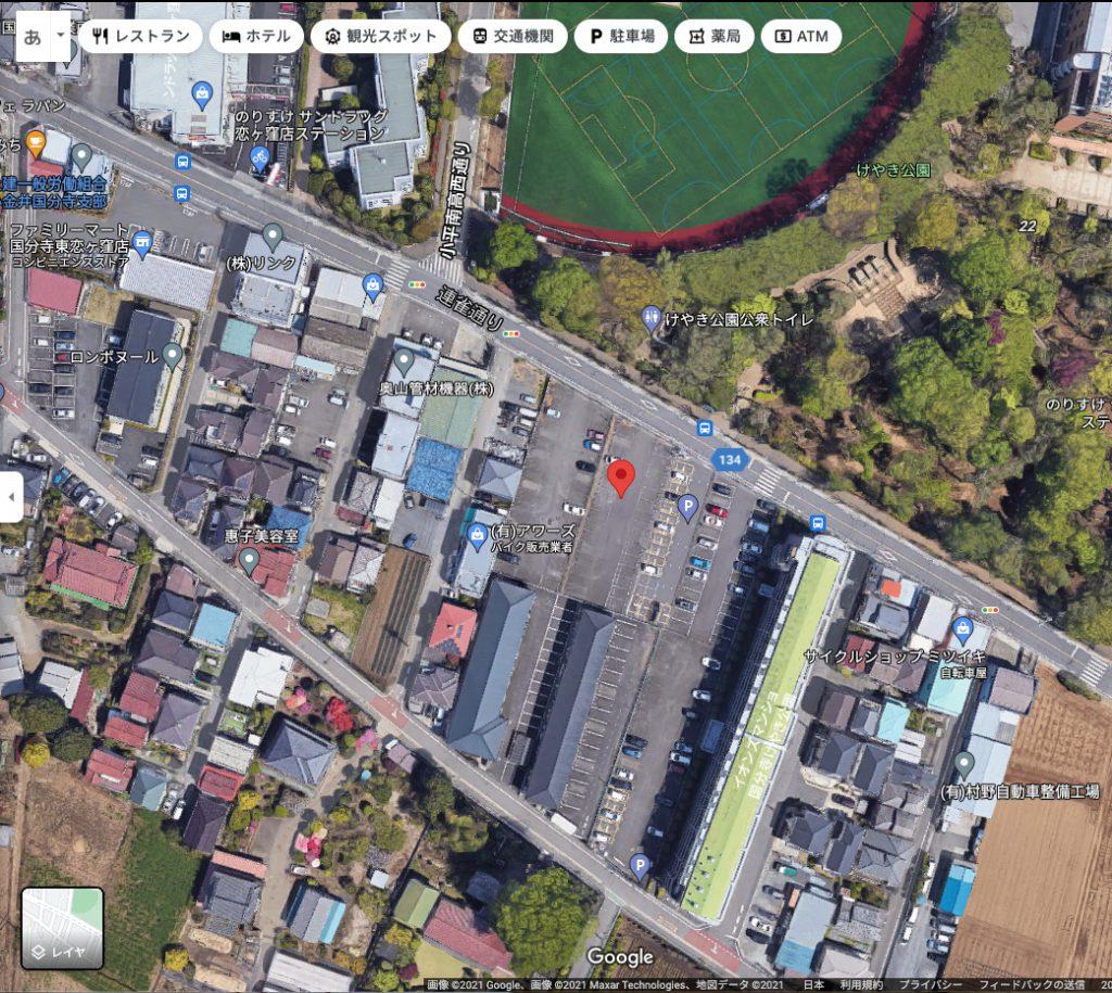 【Google Map】けやき公園前の東恋ヶ窪2-34-1の現在地