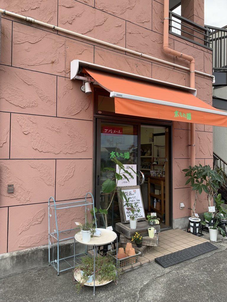 2021年9月30日に閉店する多喜窪通り沿いの花屋、木もれ陽
