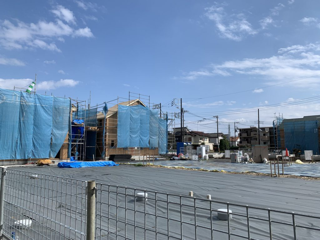西元町3丁目のプレイステーション跡地に建設されている「シュプロス国分寺プロジェクト」の第1期の新築